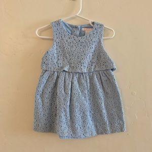Janie & Jack Baby Girls Light Blue Lace Dress
